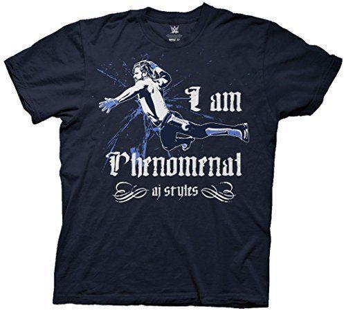 WWE AJ Styles I Am Phenomenal Mens Navy T-shirt - http://bestsellerlist.co.uk/wwe-aj-styles-i-am-phenomenal-mens-navy-t-shirt/