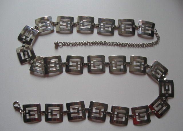 Cintura di metallo argentato : Cinture di bymarina