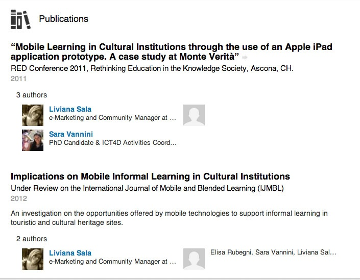 My Academic #publications on #informallearning #mobilelearning #blendedlearning @ USI Lugano