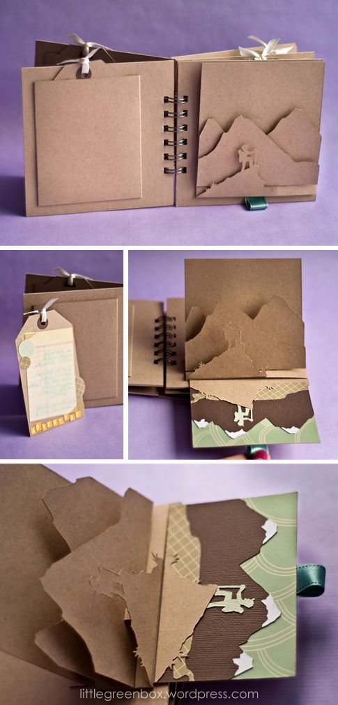 """Birthday Wishes pop up book from the """"little green box"""""""