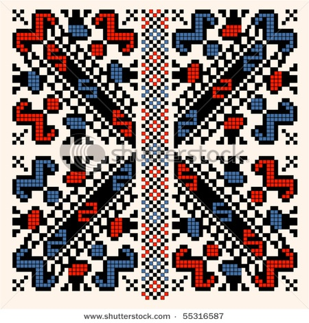 Transylvania folk pattern