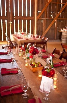 rustic red wedding theme - Google Search
