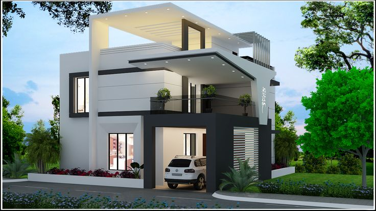 Home Design Ideas For Small Houses: 3D View Of A Beautiful House Designed By Apnaghar. For