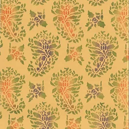 DIY Painted Furniture Stencils with Indian Designs - Paisley Print Wallpaper Stencils Patterns - Royal Design Studio
