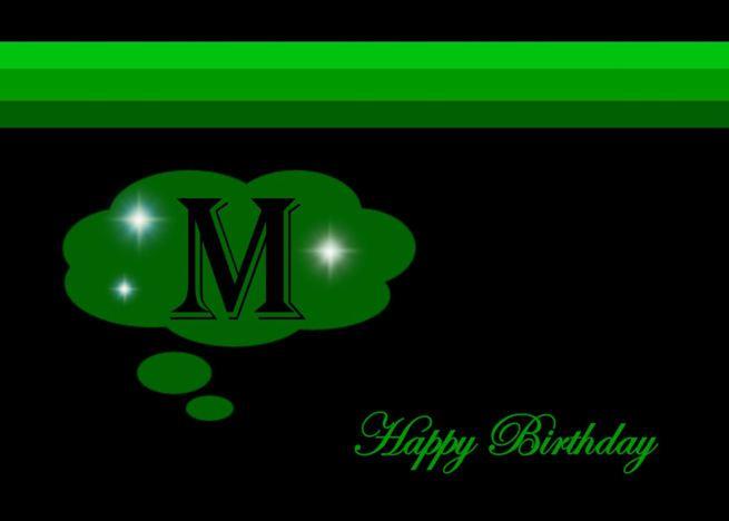 Happy Birthday Emerald Green Monogram M Card Ad Ad Emerald Birthday Happy Card Birthday Greeting Cards Greeting Card Design Greeting Card Artist