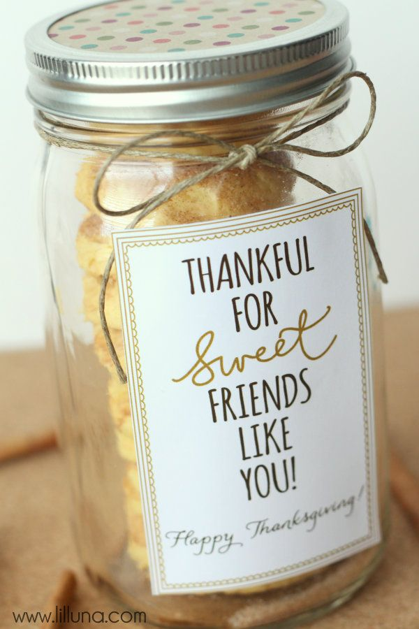 Thankful for Sweet Friends Like You Gift Idea with Cake Batter Snickerdoodle Cookies