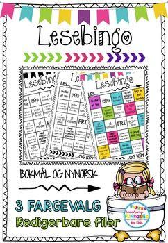 Lesebingo som motivasjon for lesing! Fin til hjemmelekse eller ferielesing! Bingoen kan redigeres slik at den kan tilpasses alle klasser!