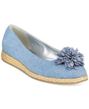Bandolino Blondelle Slip-On Espadrille Flats - Blue 5.5M