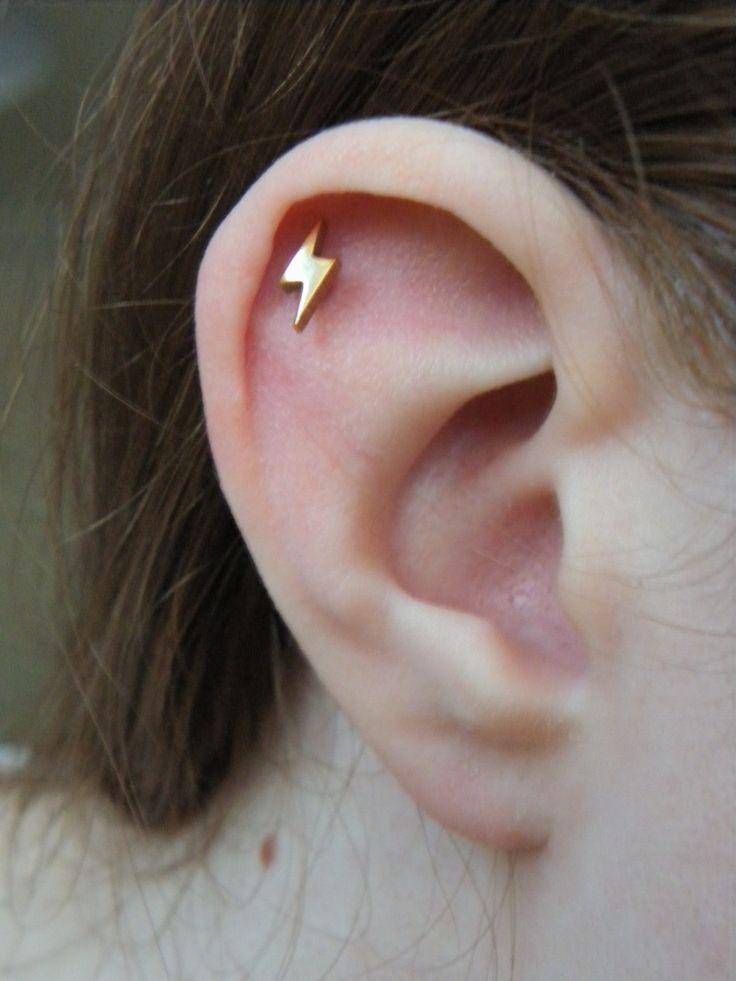 Lightning Bolt Cartilage Earring Bling Lightning Bolt