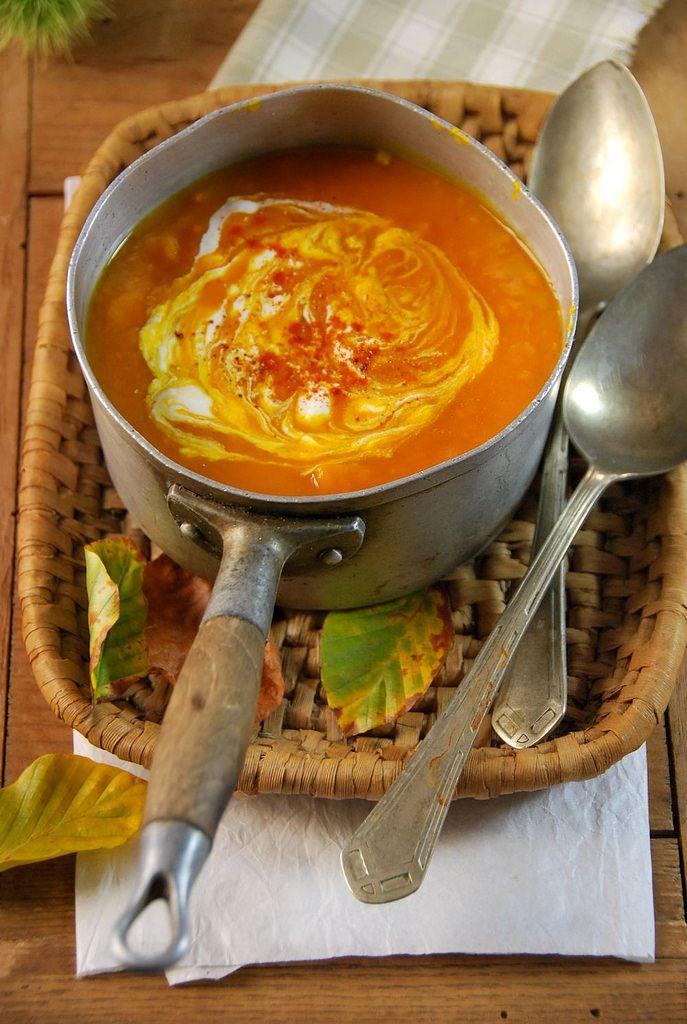 Soupe de potimarron et tomate {recette d'automne}Tangerine Zest