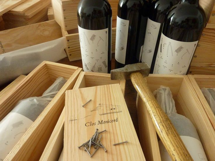 Clos Monicord 2009 vintage presented in one single wooden bottle boxes - Bordeaux wine