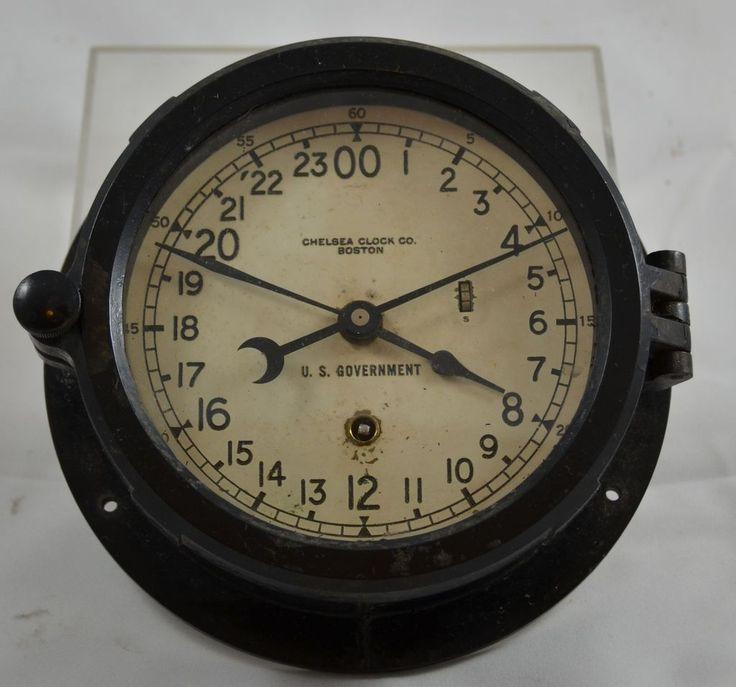 Vintage Marine Ships Clock Bakelite Chelsea Clock Co