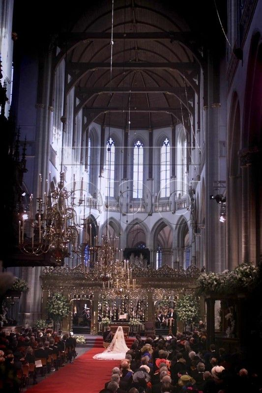 NETHERLANDS-WEDDING-CHURCH the Nieuwe kerk. De Dam, Amsterdam. .