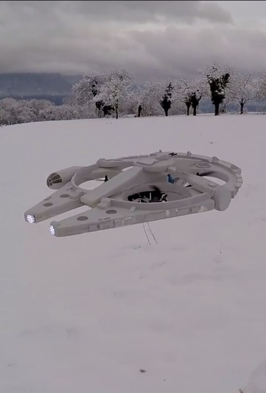 How do you make drones cooler -- turn them into the Millennium Falcon from Star Wars.