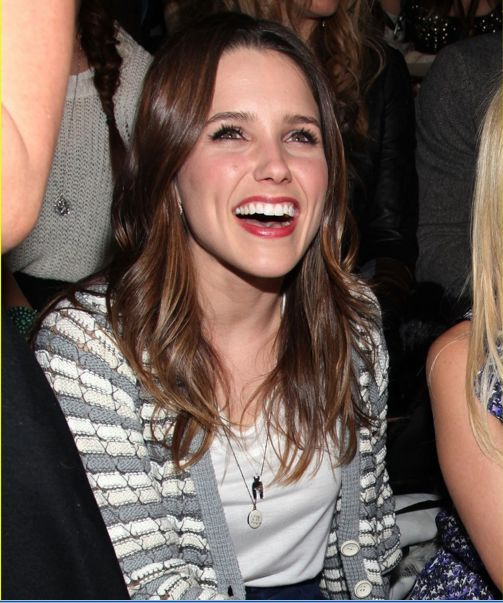 The most wonderful human and beyond stunning, Sophia Bush, wearing a mirror Ideal Woman: Necklace front row at Charlotte Ronson Fall 2011 fashion show.