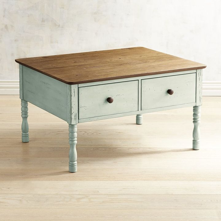 Pier 1 Imports Haven Soft Green Coffee Table