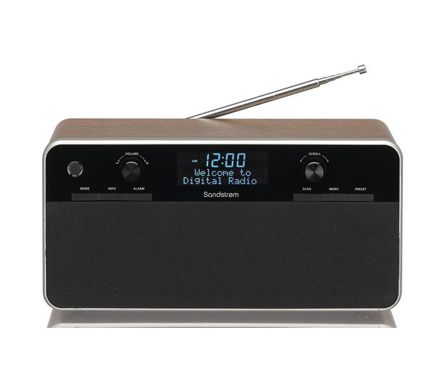 buy sandstrom sdabxrw13 dab radio black wood free delivery currys furniture. Black Bedroom Furniture Sets. Home Design Ideas
