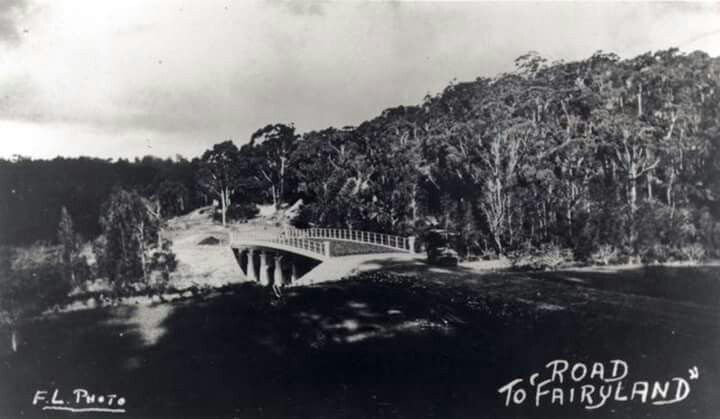 The Fullers Road Bridge, looking back towards Chatswood in the 1920s. State Records of NSW.