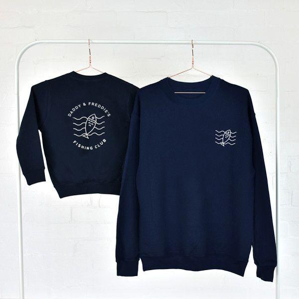 Dad And Me Adventure Club Navy Sweatshirt Jumper Set