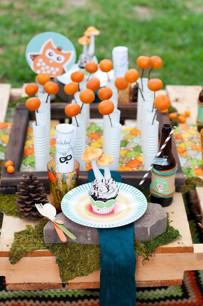 [Boy Bash] Woodland Birthday Party Tablescape! | Boy Birthday Party Ideas and Supplies - Spaceships and Laser Beams