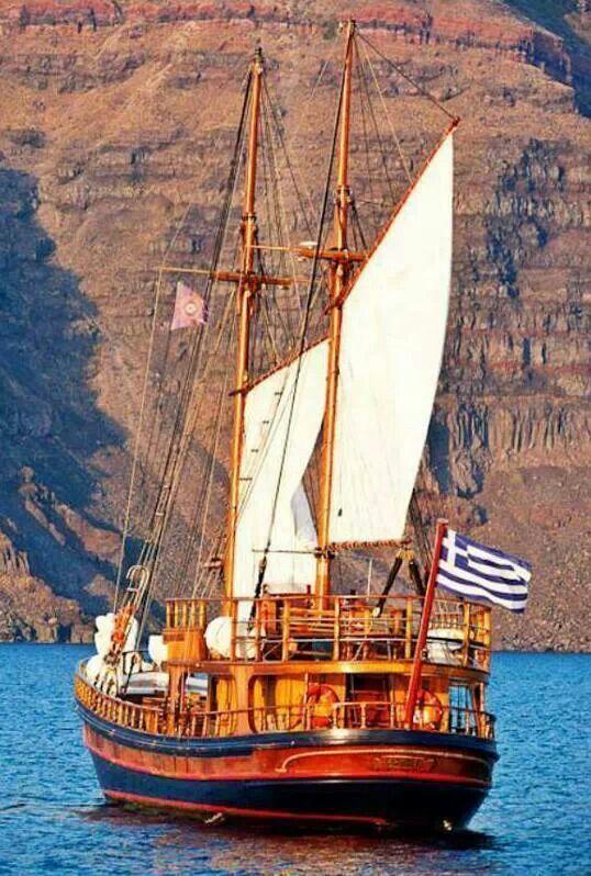 Sailing in Santorini waters!!