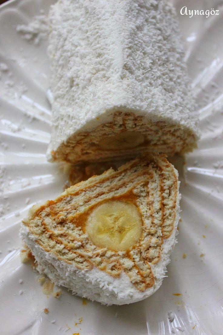 AynaGöz.: 24 Kasım/ Balkabaklı Muzlu Bisküvili Pasta