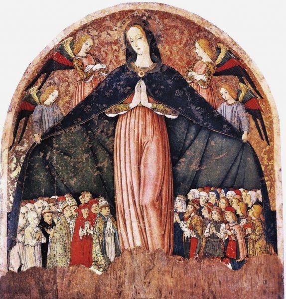 Pietro Alemanno - Madonna della Misericordia - 1494 - Chiesa di Santa Maria di Piazza Alta, Sarnano