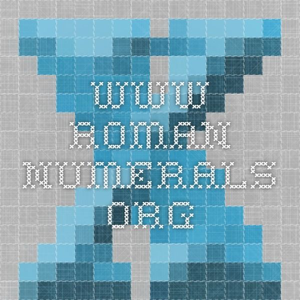 www.roman-numerals.org