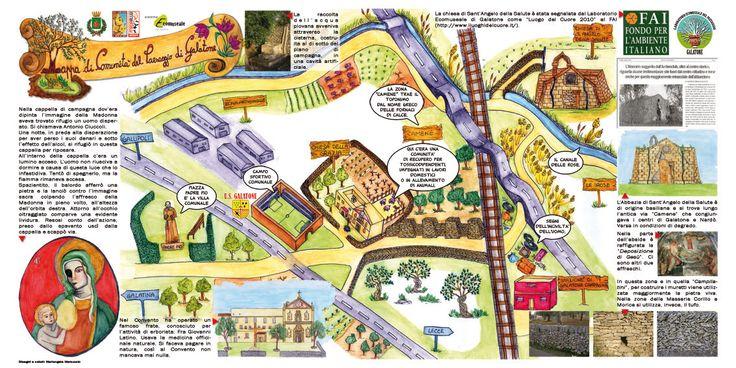 > Mappa di Comunità di Galatone (Le) > disegnata da Mariangela Marcuccio >more info: REPORT > http://paesaggio.regione.puglia.it/images/stories/Mappe_COMUNIT/mappe_comunita_dossier.pdf  QUADERNO > http://issuu.com/aldosumma/docs/quaderno_dell_ecomuseo_di_galatone_n._1