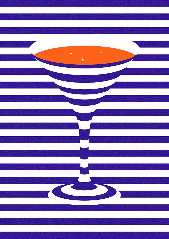 Martini illustration - Karan Singh