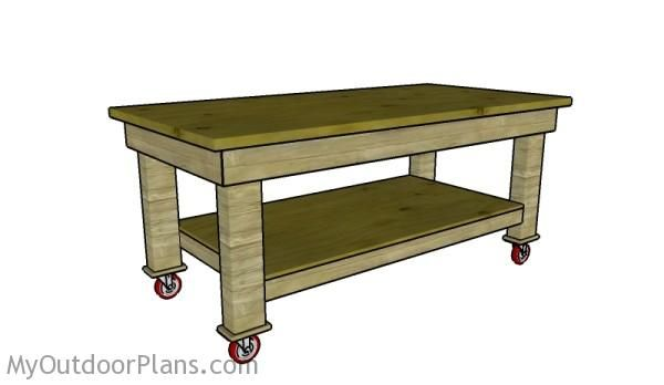 Heavy Duty Workbench Plans | MyOutdoorPlans | Free Woodworking Plans and Projects, DIY Shed, Wooden Playhouse, Pergola, Bbq