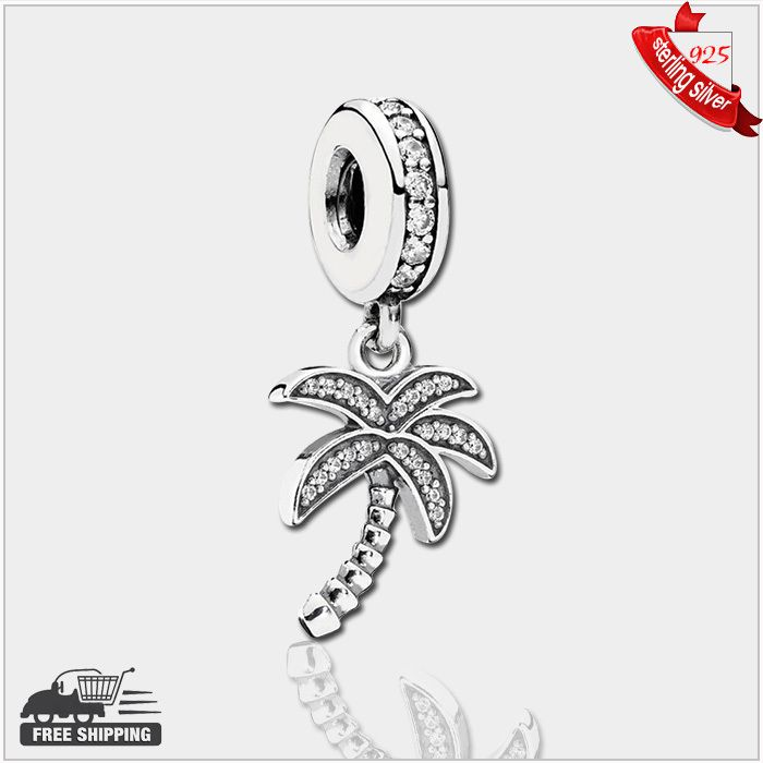 Find More Beads Information about Authentic 925 Sterling Silver Beads Palm tree silver dangle with cubic zirconia fashion Fits Pandora Style Bracelets,High Quality silver cleats,China silver acrylic beads Suppliers, Cheap silver bead spacers from silver chinese on Aliexpress.com