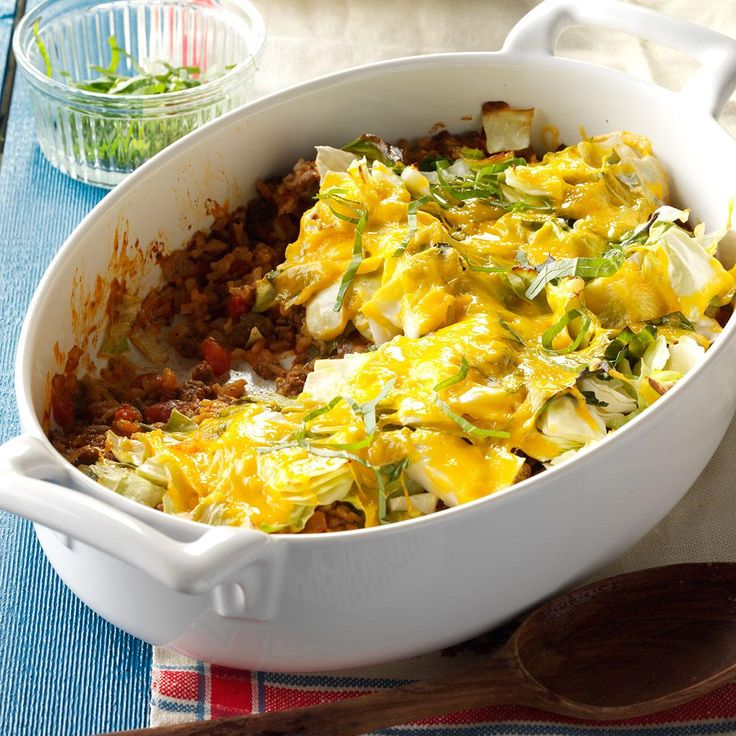 Contest-Winning Cajun Cabbage Recipe -Looking for a different treatment for cabbage? Try this spicy cheese-topped dish that I adapted from a friend's recipe. I added a little of this and that until it tasted the way I wanted. Not only do my husband and kids like it, I get rave reviews when I make it for company or church functions. —Bobbie Soileau, Opelousas, Louisiana