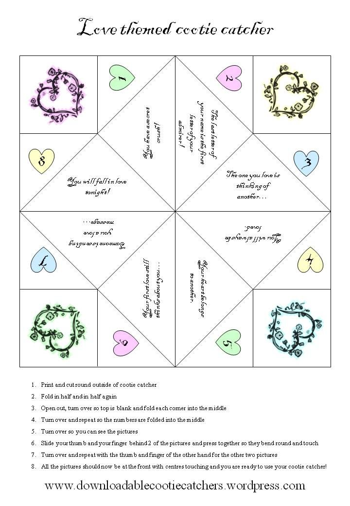 16 best игры images on Pinterest Cootie catcher template, Craft - cootie catcher template