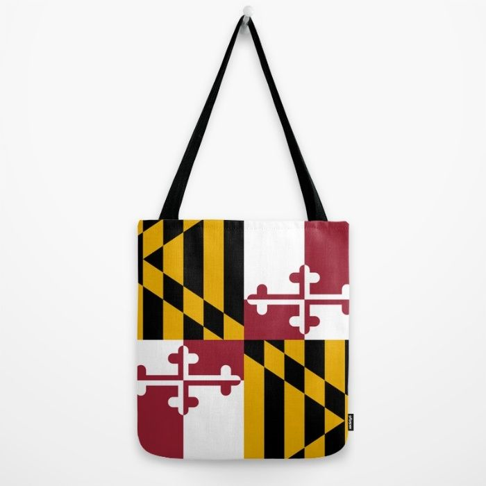 Flag of Maryland - Authentic High Quality image Tote Bag by Flags | Society6 #Maryland #state #flag #stateflags #marylandflag #annapolis