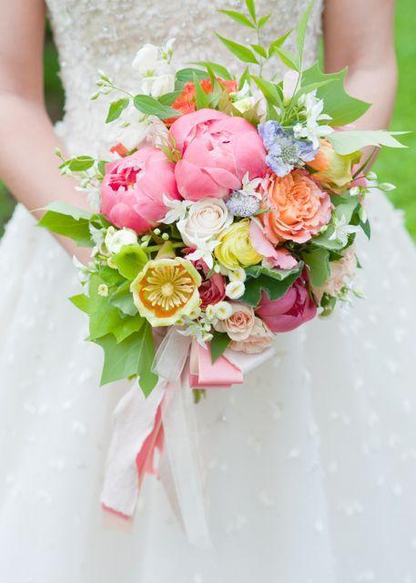 Holly Heider Chapple flowers tulip poplar flower bouquet, coral ...