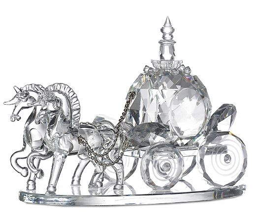 Hand Faceted Crystal Wedding Cinderella's Coach $42.95  Wedding cake topper or display.