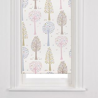 Magic Trees Blackout Roller Blind, Multi - These printed blackout blinds are decorated with stylised trees that belong in no ordinary wood. Made from pretty birds, blooms and butterflies, the intricate leafy design adds a gorgeous touch to a bedroom.