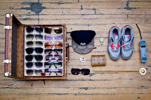 Reusing Suitcases For Shady Eyewear Displays