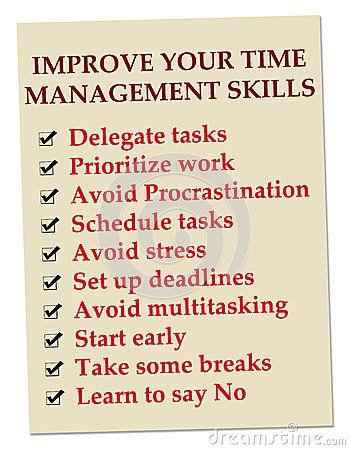 Time management skills at work