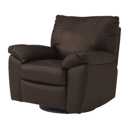 Wish I could find a light yellow leather recliner.  IKEA because we won't use it often. VRETA Swivel/reclining/armchair IKEA Soft, hardwearing and easy care leather is practical for families with children.