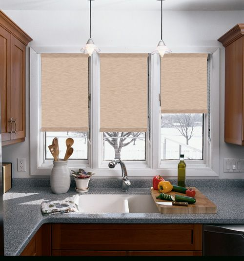 Graber® Roller Shade: Sheffield #rollershades for the #kitchen or any room. #kitchenwindows #kitchenwindowtreatments #rollerblinds #kitchenshades