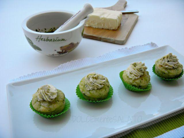 DOLCEmente SALATO: Cupcakes di zucchine con crema di burro