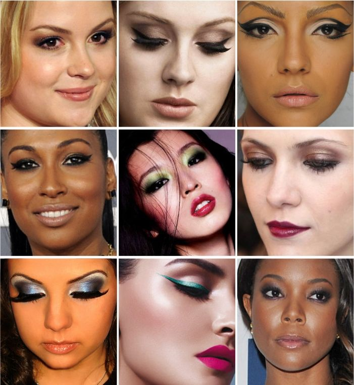 ideas of makeup for dark eyes (portuguese)