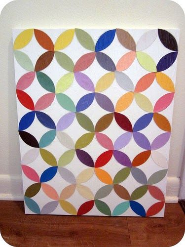 """Remember how I promised a fun paint chip project a few weeks ago? Well, here it is ( finally )! It's more DIY art for us """"non-artists"""", so..."""