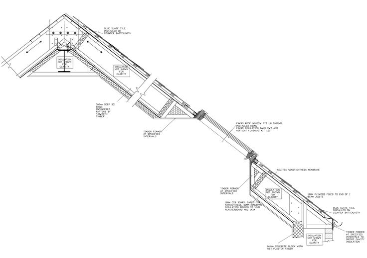 Golcar Passivhaus roof detailing