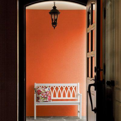 orange wall in laundry?