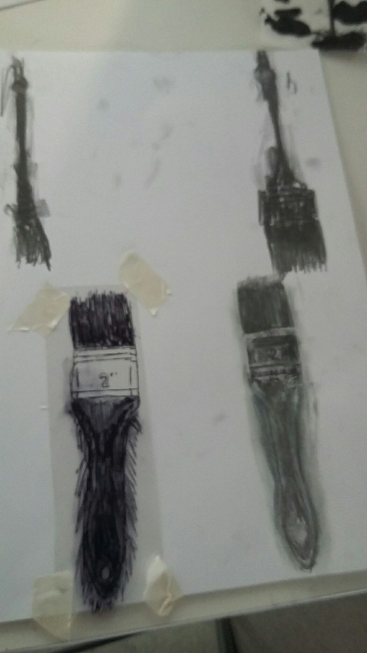 Brushes with a differebt technique ( one on the bottom left