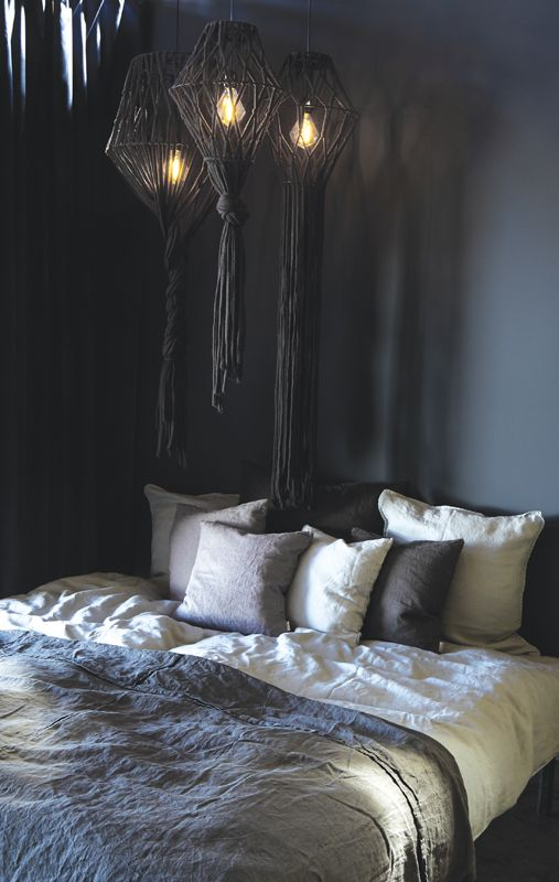 A.U Maison AW17. #aumaison #interior #homedecor #styling #danishdesign #bedroom #bedlinen #linen #cushions #velvet #curtain #yarnlamp