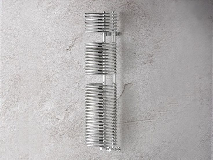Wall-mounted steel decorative radiator CYLINDER Design Collection by BRANDONI.  Talk to Simply Radiators for more info.